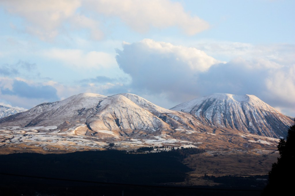 冬の阿蘇山2013年12月